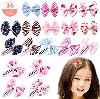 Baby Girl's Hair Clips Cute Hair Bows Baby Elastic Hair Ties Hair Accessories Ponytail Holder Hairpins Set For Baby Girls Teens Toddlers, Assorted styles, 36 pieces Pack(36 pieces)