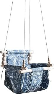 Indoor/Outdoor boho nursery decor Mud cloth fabric baby toddler swing