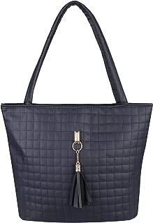 KRISP Women Quilted Leather Designer Shopper Bag Hobo Shoulder Tote Handbag Tassel