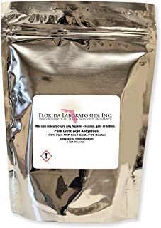 Pure Citric Acid 5 LB. Food Grade 100% FCC/USP Granular Organic Anhydrous Made in USA - Cleaning, Cooking, Bath Bombs -