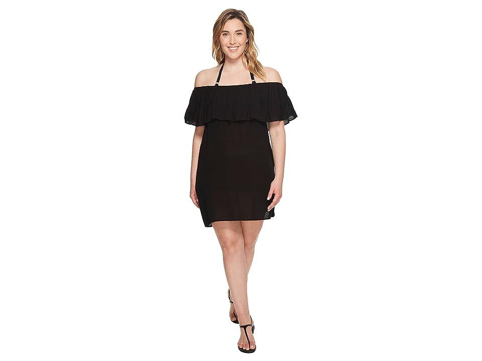 BECCA by Rebecca Virtue Plus Size Modern Muse Dress Cover-Up (Black) Women