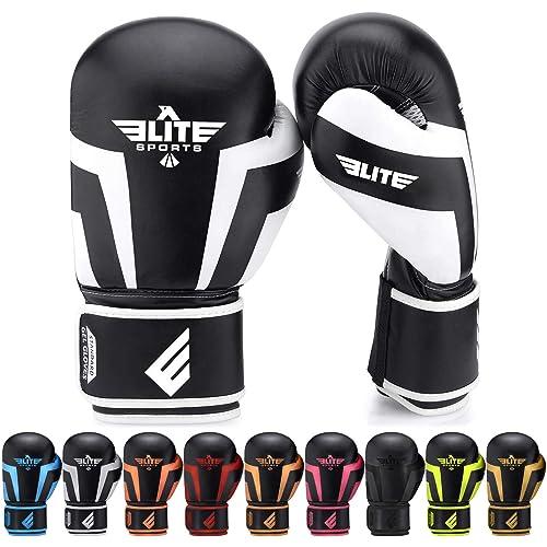 Boxing Gloves for Men, Women, and Kids, Elite Sports Kickboxing Punching Bag Pair of 2 Gloves