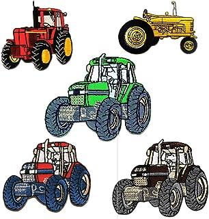 Tractor Set 5 Piezas - Parches termoadhesivos bordados aplique para ropa