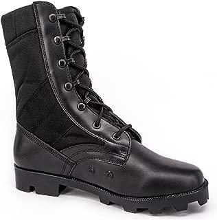 Men's Military Jungle Boots Full Grain Leather Speedlace Desert Boots Combat Outdoor Work Water Resistant Boots