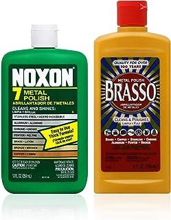Brasso Cleaner Bundle: Brasso Metal Polish (8oz) and Noxon 7 Liquid Metal Polish (12oz) 1 ea