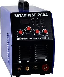Rstar IGBT Inverter 200Amp AC DC TIG ARC MMA Stick Welder System Digital LED Display Welder Single Phase 220V, Aluminum, Stainless Steel, Carbon Steel, Copper Non-ferrous Metal Welding Equipment