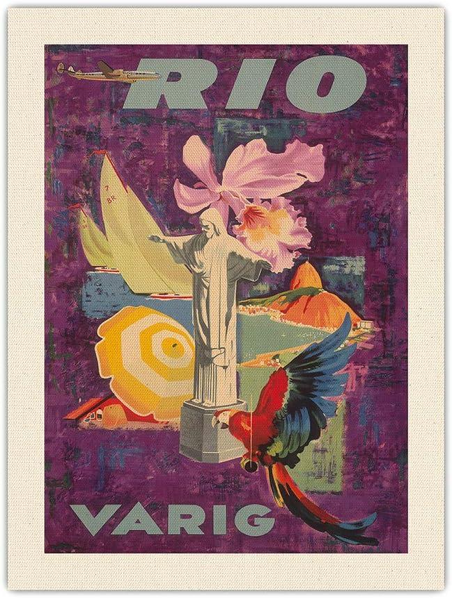 Pacifica 大人気 Island Art Rio Brazil - 返品交換不可 Airli Vintage Varig Airlines