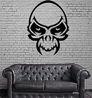 Jiualy Quotes Wall Stickers Removable Vinyl Art Wall Decal Skull Mask Horror for Gym