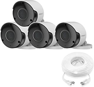 Wisenet SDC-89445BF-4PK - 5MP Super HD Weatherproof Bullet Camera (4 Pack)