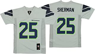 OuterStuff NFL Youth Seattle Seahawks Richard Sherman #25 Jersey, Gray Large (14-16)