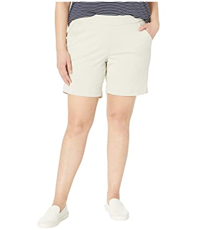 Jag Jeans 8 Plus Size Gracie Pull-On Shorts (Stone) Women