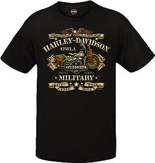 Harley-Davidson Military - Men`s Graphic Short Sleeve Crew Neck T-Shirt - Overseas Tour | War Bike