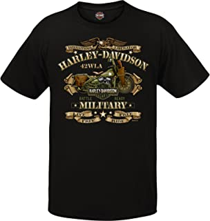 Harley-Davidson Military - Men's Graphic Short Sleeve Crew Neck T-Shirt - Overseas Tour | War Bike