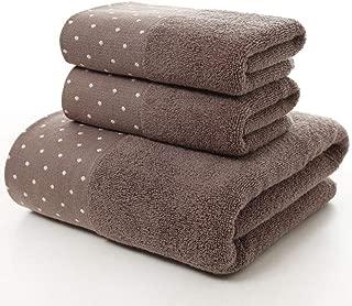 XINYAN JIA Bath Towel Set (3-Pack,70140CM,3575CM) Multipurpose Use Towel Bath for Bath Hand Face Gym and Spa Cotton Polka Dot Towel Soft Absorbent,D