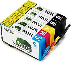 JARBO 903L 903XL Compatibili Cartucce HP 903 L 903 XL Alta Capacità Compatibile con HP Officejet 6950, HP Officejet Pro 6960 6970, Confezione da 5 (2 Nero,1 Ciano,1 Magenta,1 Giallo)