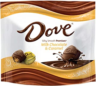 DOVE PROMISES Caramel Milk Chocolate Candy 7.61-Ounce Bag (Pack of 8)