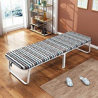 Caishuirong Lit Pliant for Bureau d'intérieur Balcon Patio Jardin Plage extérieur Pliant Lit Simple Lit Déjeuner pour Adul...