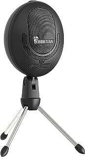 eBerry Cobblestone Microphone, Cardioid USB Microphone Studio Condenser Mic Recording Microphone for Computer Windows/Mac Desktop Laptop (Black)