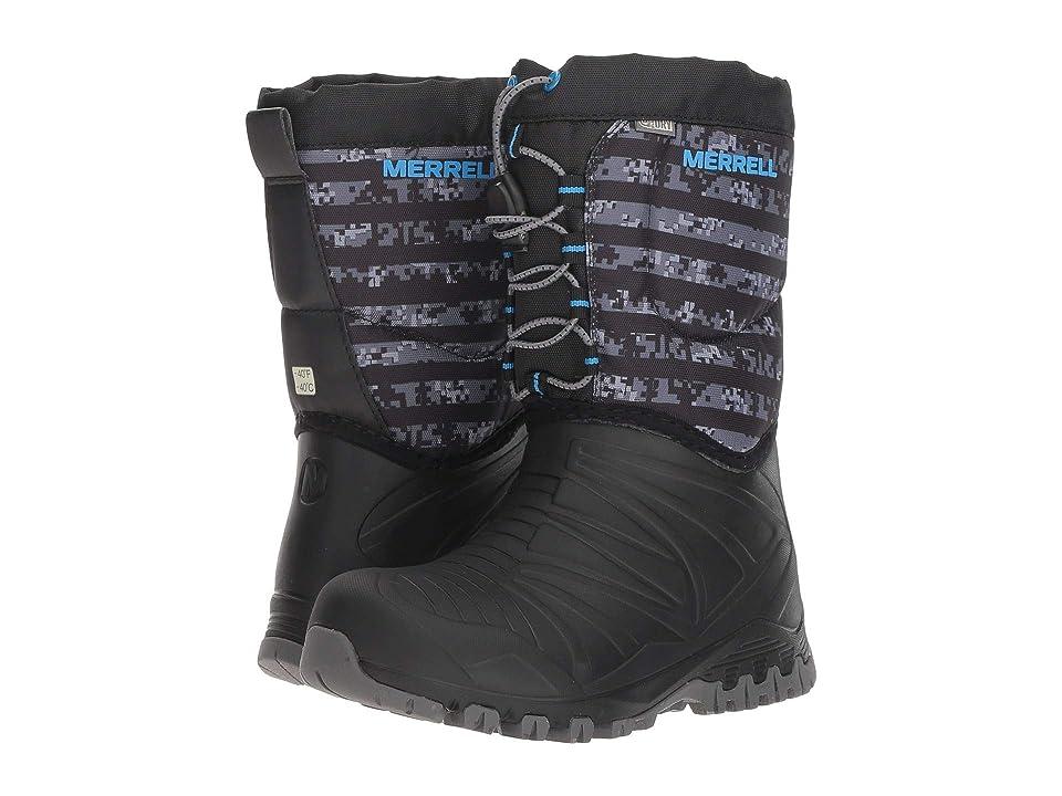 Merrell Kids Snow Quest Lite Waterproof (Little Kid) (Black/Grey) Boys Shoes