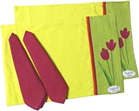2 Spring Bloom Applique Placemats and Matching Napkins