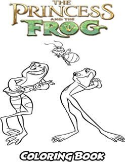 Princess and the Frog Coloring Book: Coloring Book for Kids and Adults, Activity Book with Fun, Easy, and Relaxing Coloring Pages (Perfect for Children Ages 3-5, 6-8, 8-12+)