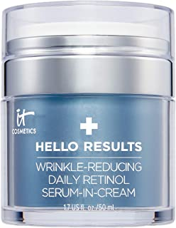 IT Cosmetics Hello Results Wrinkle-Reducing Daily Retinol Serum-in-Cream - Firming & Anti-Aging Retinol Face Cream with Ni...
