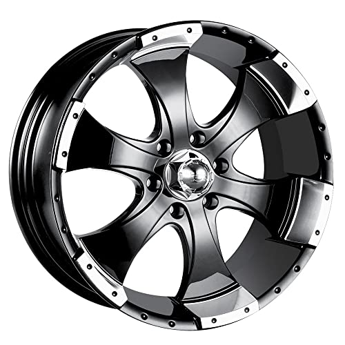 ford ranger black rims amazon Austin Mini Truck ion alloy 136 black machined wheel 15x6 5x114 3mm