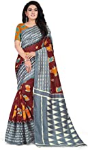 The Fashion Outlets women's & Girls Raw Silk Printed Bhagalpuri saree with Blouse Piece