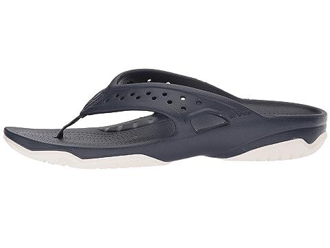 Swiftwater Flip blanco Deck Crocs marino azul 1qwd4z1E6