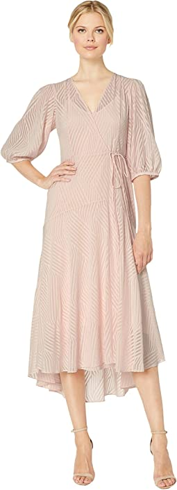 Chiffon Maxi Dress with Side Tie