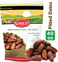 Sunbest Sun-Dried Pitted Dates in Resealable Bag,Premium Quality, Gluten Free - Non GMO - Vegan - Kosher (2.5 Lb)