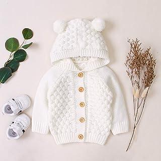 fgdahassa 2019 jesień zima noworodka dziewczynka ciepła odzież wierzchnia płaszcz z kapturem kurtka dzieci sweter dla niem...