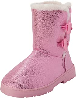 bebe Girls' Shimmery Winter boot with Fur Trim (Toddler/Little Girl/Big Girl)