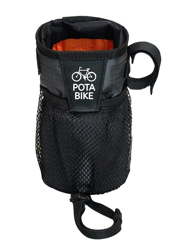 奇跡内向き硬さPOTA BIKE(ポタバイク) ステムサイドポーチ 自転車用ハンドルポーチ/ドリンクホルダー