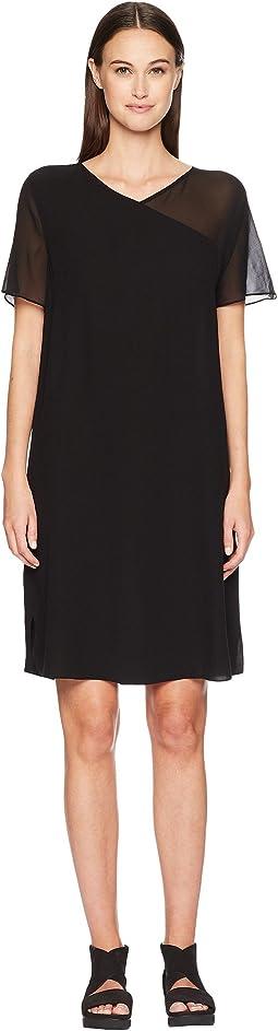 Eileen Fisher V-Neck Short Sleeve K/L Dress