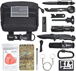 Gifts for Men Husband Dad Friend, Emergency Survival Kit 16 in 1, Upgrade Compact..