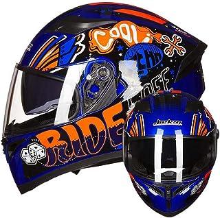 Doble Lente de la Motocicleta Mate Negro Casco Hombres Full Cara Moto Scooter Cascos ABS Material