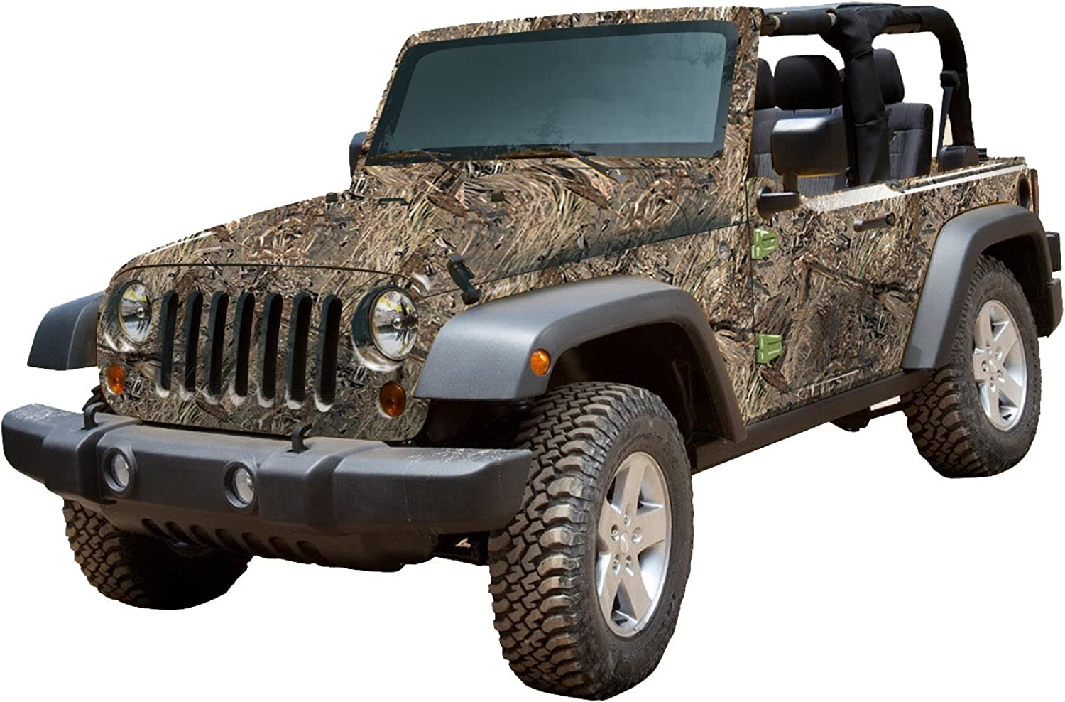 Mossy Oak Graphics 10002J2DB Duck Blind Full Vehicle Camouflage Kit for Jeep 2Door