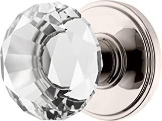 Decor Living, AMG and Enchante Accessories, Diamond Crystal Door Knobs, Passage Function for Hall and Closet, Venus Collection, Polished Nickel
