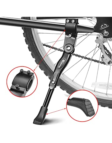 LIOOBO Soporte de una Sola Pieza para Bicicleta de pie Soporte de Soporte Lateral para Bicicleta Plegable Soporte Trasero para Bicicleta de Bicicleta MTB