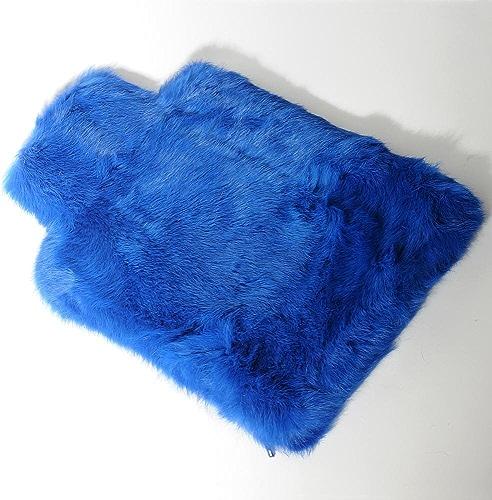 HAB & GUT -JF002V-bleu- Housse de bouillotte en Fourrure, Doux et Chaud, Bleu