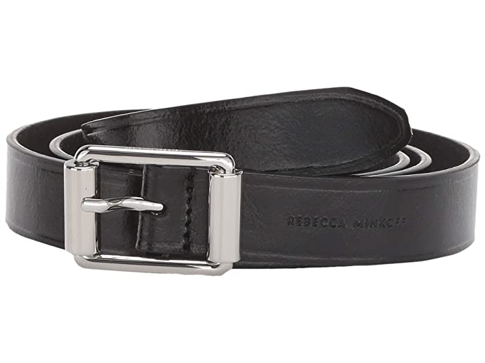 Rebecca Minkoff 25 mm Double Roller Belt (Black) Women