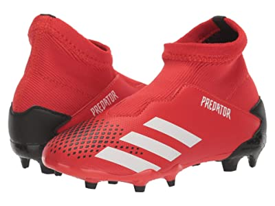 adidas Kids Predator 20.3 LL FG J Soccer (Little Kid/Big Kid) (Active Red/White/Black) Kids Shoes