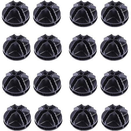 DOITOOL Lot DE 20Fils Cube Plastique Connecteurs pour Cubes de Rangement Rayonnage et Armoire modulaire Organiseur Dressing Fermoir Boucle Clip (Noir)