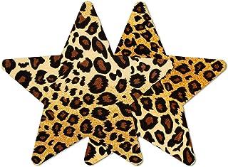 Nippies Style Velvet Animal Print Star Waterproof Self Adhesive Nipple Cover Pasties
