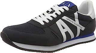 ARMANI EXCHANGE Micro Suede Multicolor Sneakers, Scarpe da Ginnastica Uomo