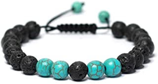 Adjustable Calm Lava Stone Diffuser Bracelet - Meditation, grounding, Healing, Genuine Stones, Natural, Essential Oils, self Confidence, Holistic, Aromatherapy