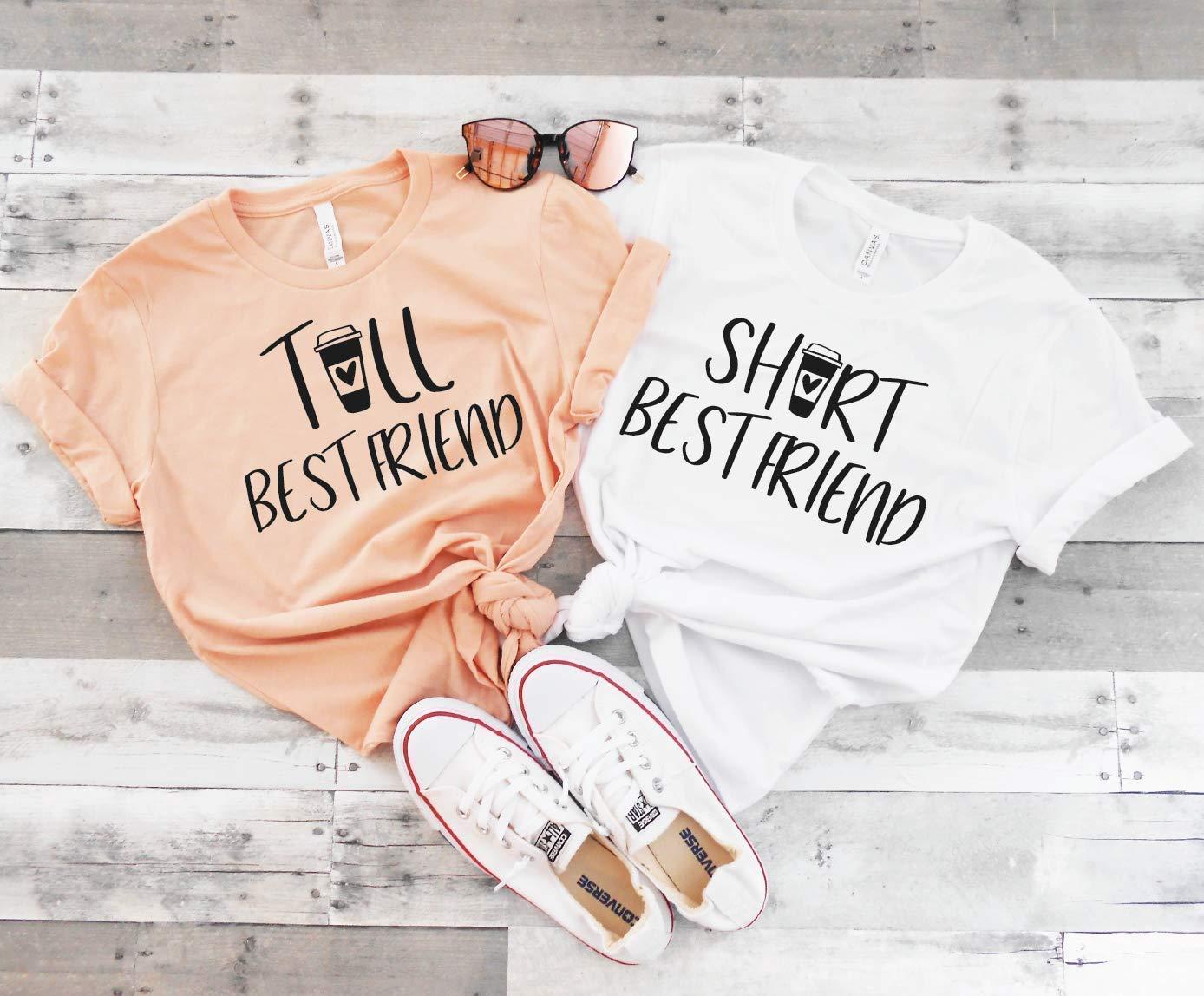 Tall Best Friend Shirt, Short Best Friend Shirt, Cute Best Friend Shirt,  BFF Shirts, Tall and Short Best Friend Shirt, Unisex Basic Shirt, Coffee ...