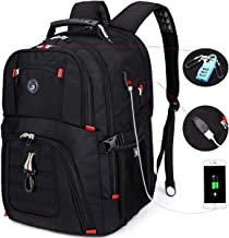 Durable 50L Laptop Backpack Travel Backpack College Bookbag with USB Charging Port fit 17 Inch Laptops for Men Women