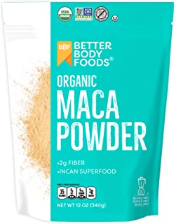 BetterBody Foods Organic Maca Powder, Non-GMO & Gluten-Free, 12 Ounce